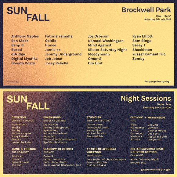 sunfall lineup