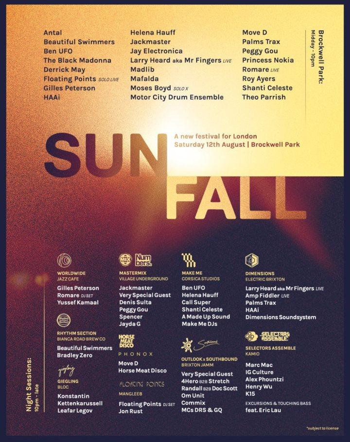 Sunfall 2017 lineup